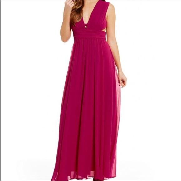 Badgley Mischka Dresses | Belle Magenta Maxi Dress Gown | Poshmark